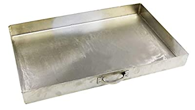 massiver Edelstahl Aschekasten 49 x 34 cm (1.4016 magnetisch) für Einen Grillkamin (54x34cm) Grill Rost Kamingrill