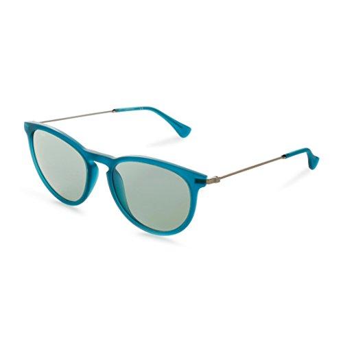 Calvin Klein Platinum - CK3174S, Rund, Acetat/Metall, Damenbrillen, MATTE BLUE/GREY BLUE (430 ), 52/18/140