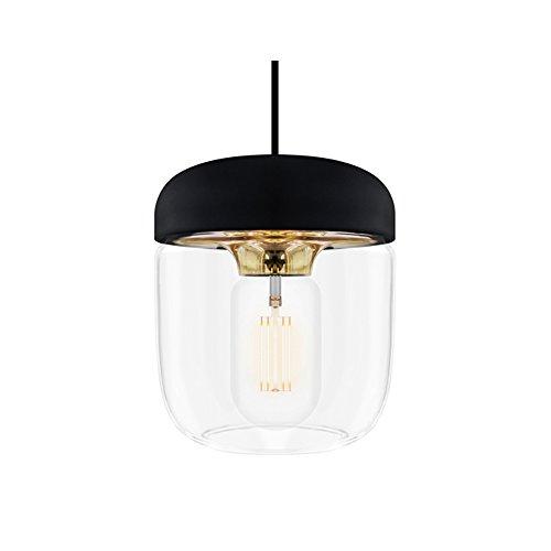 VITA - Abat-jour pour suspension noir métal doré Vita Acorn