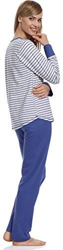 Merry Style Pyjama Femme 1187 Bleu-2A