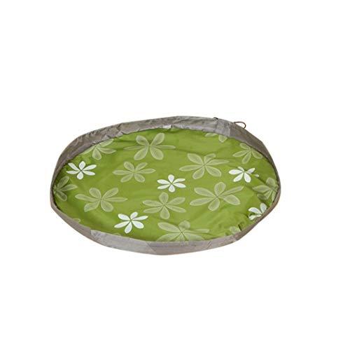 en Zylinder tragbare Spielzeug Aufbewahrungstasche kreative Spielzeug Pad Aufbewahrungsbox Teppich Box grün langlebig und nützlich ()
