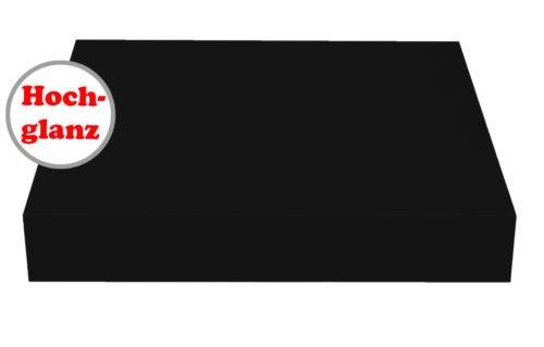 Wandboard / schwebend / 14 Dekore / 5 Größen / Matt / Hochglanz (Schwarz Hochglanz, 23,5 cm) -