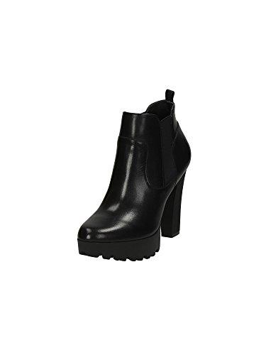 Grande taille :  femme cammila gUESS bottines d'équitation en cuir Noir