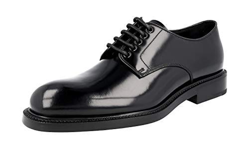 Prada Herren 2EA072 055 F0002 Gebürstetes Spazzolato-Leder Business Schuhe, Schwarz (schwarz), 44 EU - Prada Kleid Schuhe Männer