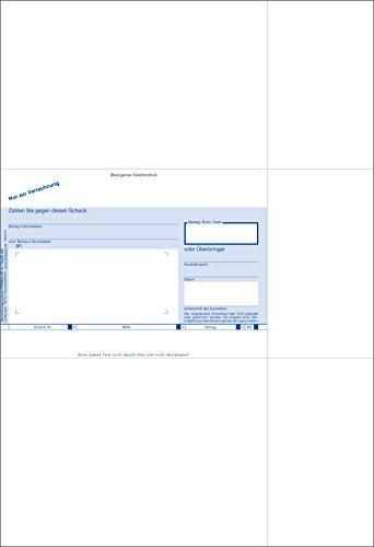 Bits&Paper BP0113 - SEPA-Verrechnungsscheck, Scheckvordruck mit IBAN Feld