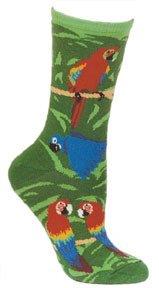 Parrot Design Neuheit Socken in Hunter Grün Gr. L, hunter green