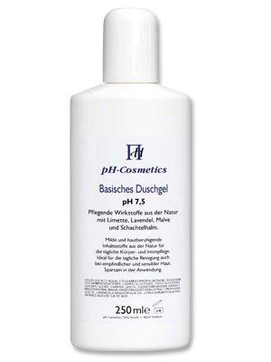 Duschgel, basisch pH 7, 5, ph-Cosmetics, Basen Gel zum Duschen für Haar und Körper, 250 ml
