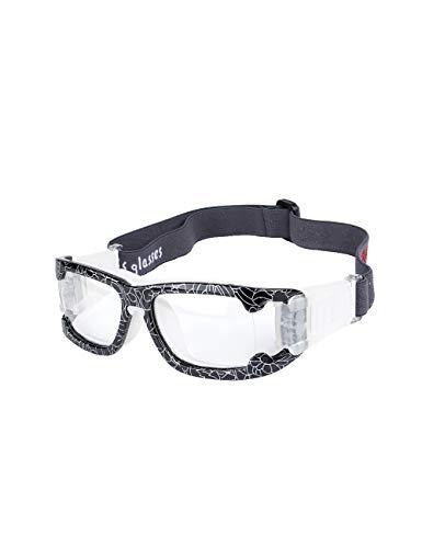fussball sportbrille ROLLBERTO Sportbrillen für Basketball Fußball Volleyball Hockey Outdoor Sports Brille Schutzbrille Brillen (Schwarz-Weiß)