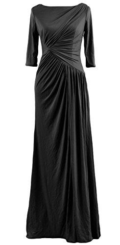 MACloth - Robe - Trapèze - Manches Courtes - Femme Noir - Noir