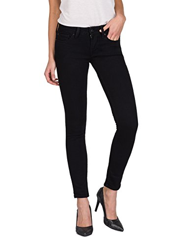 Replay Damen LUZ Skinny Jeans, Schwarz (Black 98), W29/L32