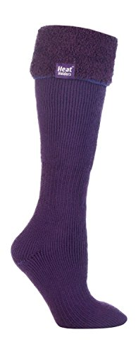 Flügel Thermische (Heat Holders Damen Thermo-Socken für Gummistiefel 37-42 eur (Purple))