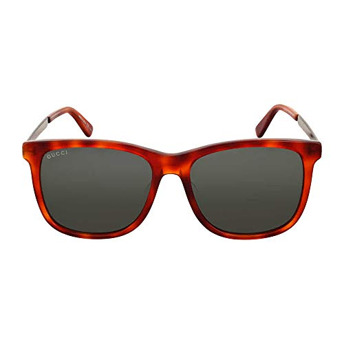 Gucci GG0078SK 005 Montures de lunettes, Marron (Avana/Green), 56 Homm