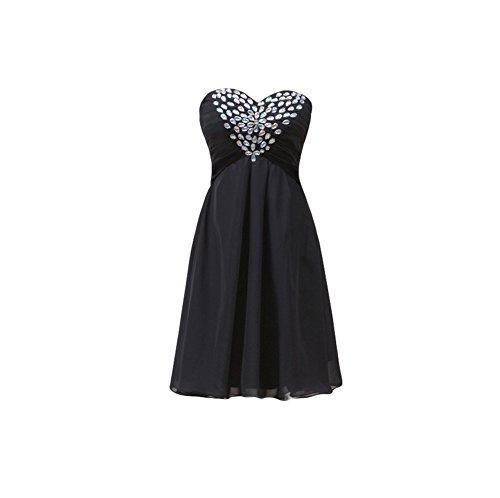 Bridal_Mall -  Vestito  - Senza maniche  - Donna Nero