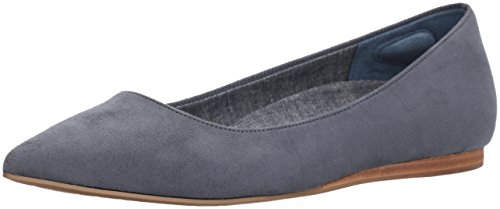 Dr. Scholl's Shoes Women's Leader Ballet Flat, Blue Microfiber, 9 M US