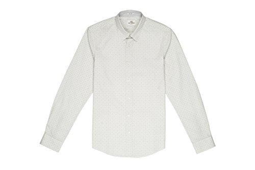 Ben Sherman Herren Freizeithemd Ls Optic Checkerboard Weiß (Bright A47)