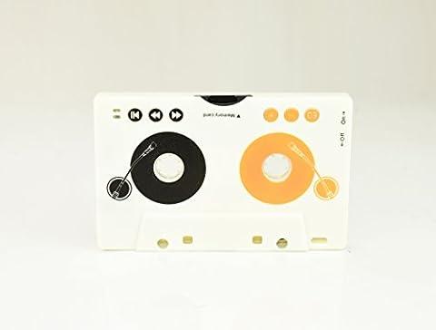 Adaptateur cassette (lecteur MP3 sans fil, casque, fente pour carte SDHC, intégrée au lithium-ion pour la radio de voiture et cassette)