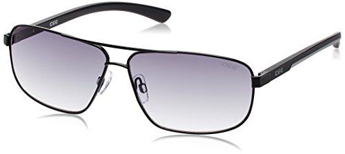 IDEE Square Sunglasses (IDS1853C1SG|53|Shiny Black and Matt Grey ) image