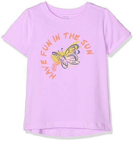 NAME IT Baby-Mädchen NMFVIX SS TOP H T-Shirt, Violett (Lavendel Lavendula), Herstellergröße: 98 -