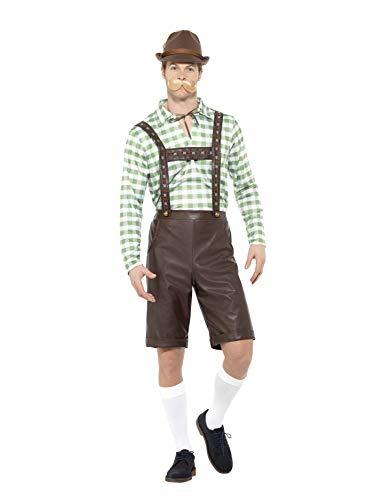Smiffys SMIFFY 'S 49667l Bayerischer Mann Kostüm, grün und braun, Größe L/42-Blumenkasten