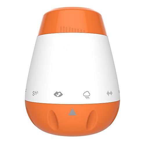 homese USB ricaricabile portatile Baby Sleep Sound Machine 6 Suoni rilassanti Shush White Noise Lullaby Attivazione del sensore vocale Sleep Soother - Arancione