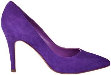 Anna Milan Zapatos De Salón Verónica para Mujer De Piel Violeta Colección Exclusiva Fabricado en España Tallas...