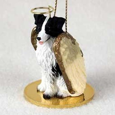 Border Collie ángel ornamento del perro