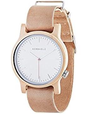 Kerbholz Damen-Armbanduhr Wilma Analog Quarz Leder 0612524230827