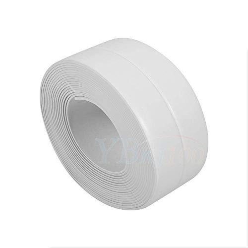 Pe sigillante nastro sigillante adesivo da parete impermeabile striscia angolo sigillante nastro bianco da parete trimmer per lavello da cucina bagno decorativo trim 3.35 m (22 mm/2,2 cm)