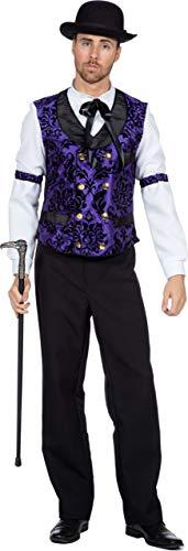 Wilbers & Wilbers Saloon Gambler Spieler Croupier Kostüm Wilder Westen - Spieler Kostüm Weste
