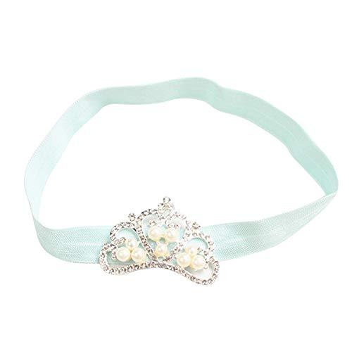 Vovotrade® Fascia dei Capelli Crown Princess neonata di Cristallo della Perla della Parte Superiore Hairband