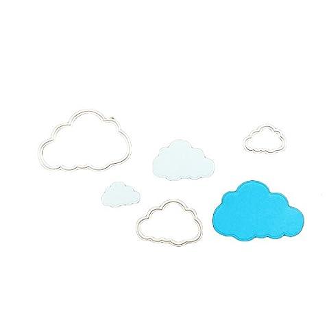 enipate Metall Formen 3Cute Cartoon Cloud für Scrapbook Album Einladung Dekoration Prägung