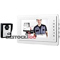 Portero automático Kit completo con pantalla 7pulgadas HD y cámara infrarroja para visión nocturna