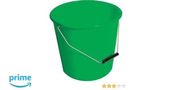 Jantex CD806 Winware Bucket 10 L Green Plastic Round