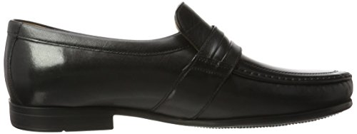 Clarks Herren Claude Aston Slipper Schwarz (Black Leather)