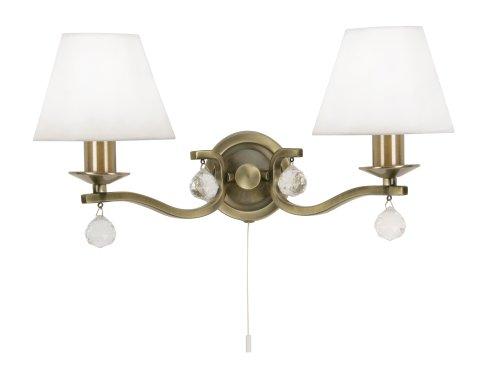 Oaks Lighting, Lampada da parete a 2 luci effetto ottone