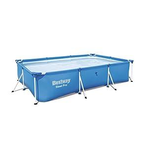 Bestway 56404 – Piscina Desmontable Tubular Infantil Deluxe Splash Frame Pool 300x201x66 cm