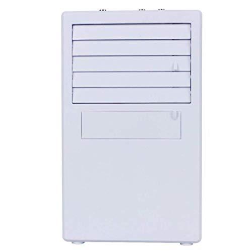 Vovotrade USB Mobiele aircooler Air Cooler met waterkoeling mini-luchtkoeler ventilator kamer verdampingsairconditioning, luchtbevochtiger en Luchtreiniger stil 3 in 1 multifunctioneel (Weiß, 5.69 * 9.54 * 3.93 inch)