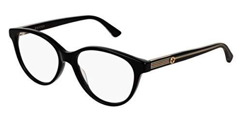 Gucci Damen Brillengestell Schwarz Schwarz 52
