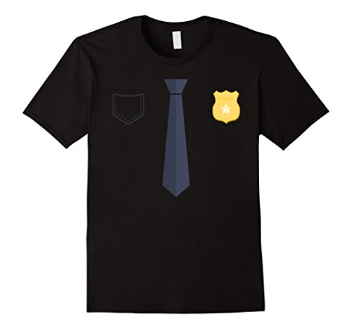 Police Uniform Officer (Police Officer Uniform T-Shirt Costume Party Tee Herren, Größe M)