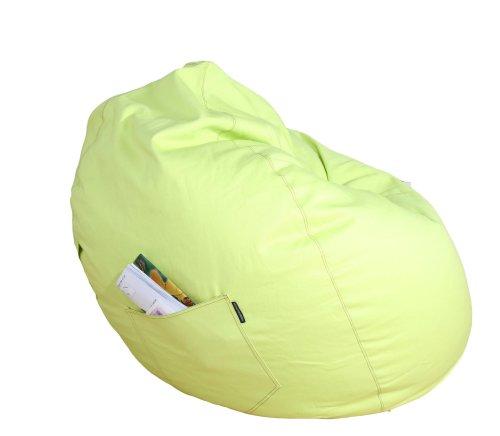 Kinzler S-10008/27 Sitzsack Billy, ca. Ø75 x H95 cm, klassische Tropfenform, Indoor, in vielen verschiedenen Farben, robuster Jeansstoff, grün