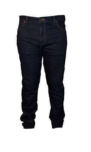 Wrangler extragroß Texas Stretch dunkel gewaschen Jeans gebürstete Rückseite Taille 32
