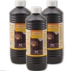 15 Litres de pétrole désaromatisé de production européenne. CLAMC : facilement maniable grâce au conditionnement en bouteille d'un litre (kerdane, pétrole lampant, fioul pour chauffage et poêle)