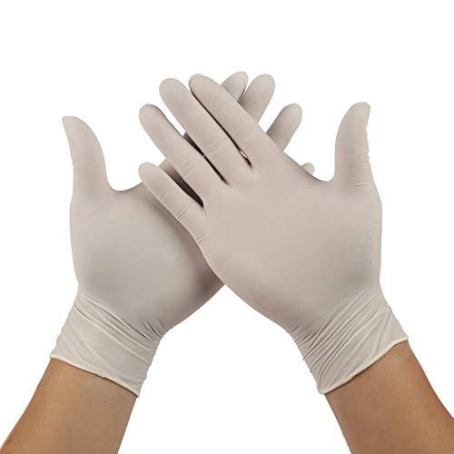 guanti mtb specialized Guanti protettivi monouso in lattice senza polvere addensati tatuaggio industriale guanti in lattice di gomma bianca per uso dentale in polvere