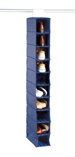 WENKO 4372030100 Multiorganizer Comfort - 10 Fächer, Kunststoff - PEVA, 15 x 122 x 30 cm, Blau