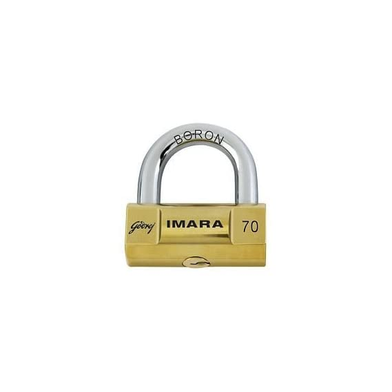 Godrej Imara 6247 Brass Padlock Set (Brass, 4-Pieces)