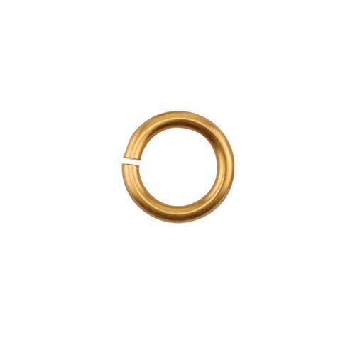 Lot de 140 anneaux en fil de cuivre pour filetage artistique 18 ga 11/64\