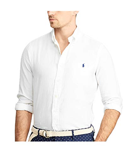 Polo ralph lauren camicia slim fit lino