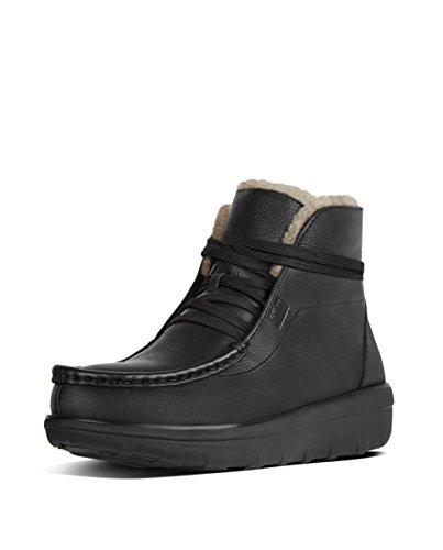 Fitflop Loaff Tm Slip On Ankle Shearling, Sneaker a Collo Alto Donna, Nero (all Black Leather), 41 EU