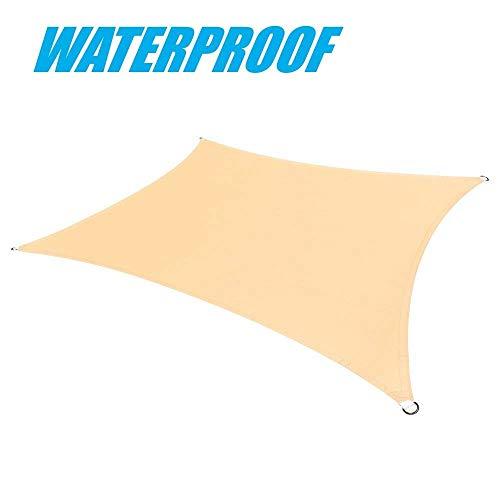 ColourTree Sonnensegel, rechteckig, wasserfest, 220 g/m², 100% Blockage, strapazierfähig, 200 x...