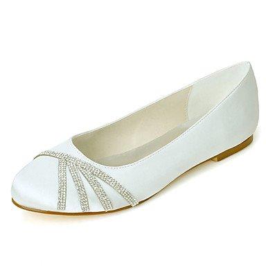 Wuyulunbi@ Scarpe donna raso Primavera Estate Ballerina Wedding scarpe tacco piatto punta tonda strass per la festa di nozze & sera Rosa Champagne Un